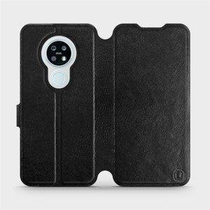 Flipové pouzdro Mobiwear na mobil Nokia 6.2 v provedení C_BLS Black&Gray s šedým vnitřkem