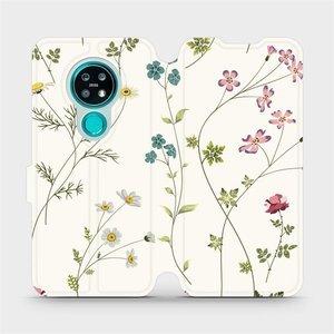 Flipové pouzdro Mobiwear na mobil Nokia 7.2 - MD03S Tenké rostlinky s květy