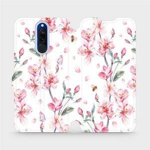 Flipové pouzdro Mobiwear na mobil Xiaomi Redmi 8 - M124S Růžové květy