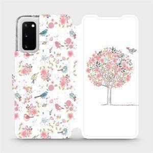 Flipové pouzdro Mobiwear na mobil Samsung Galaxy S20 - M120S Strom a ptáčci