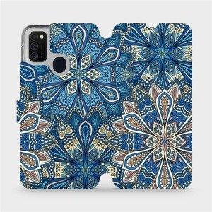 Flipové pouzdro Mobiwear na mobil Samsung Galaxy M21 - V108P Modré mandala květy