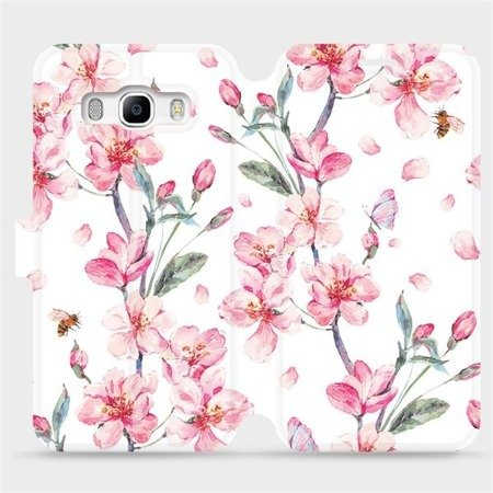 Flipové pouzdro Mobiwear na mobil Samsung Galaxy J5 2016 - M124S Růžové květy