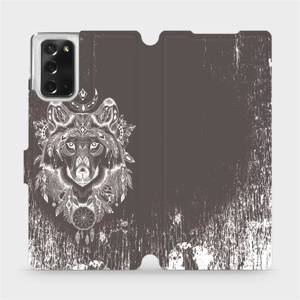 Flipové pouzdro Mobiwear na mobil Samsung Galaxy Note 20 - V064P Vlk a lapač snů