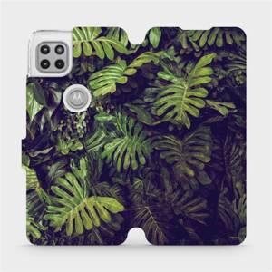 Flipové pouzdro Mobiwear na mobil Motorola Moto G 5G - V136P Zelená stěna z listů