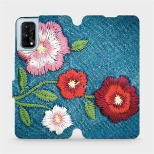 Flipové pouzdro Mobiwear na mobil Realme 7 Pro - MD05P Džínové květy