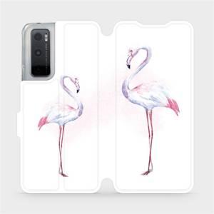 Flipové pouzdro Mobiwear na mobil Vivo Y70 - M005S Plameňáci