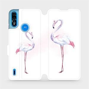 Flipové pouzdro Mobiwear na mobil Motorola Moto E7i Power - M005S Plameňáci