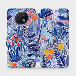 Flip pouzdro Mobiwear na mobil Xiaomi Redmi Note 9T 5G - MP03P Modrá květena