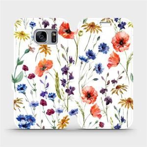 Flip pouzdro Mobiwear na mobil Samsung Galaxy S7 Edge - MP04S Luční kvítí