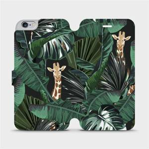 Flip pouzdro Mobiwear na mobil Apple iPhone 6s Plus / iPhone 6 Plus - VP06P Žirafky