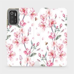 Flip pouzdro Mobiwear na mobil Xiaomi Poco M3 Pro 5G - M124S Růžové květy