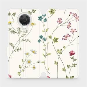 Flip pouzdro Mobiwear na mobil Nokia G20 - MD03S Tenké rostlinky s květy