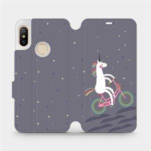 Flipové pouzdro Mobiwear na mobil Xiaomi Mi A2 Lite - V024P Jednorožec na kole