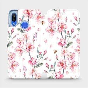 Flipové pouzdro Mobiwear na mobil Huawei Nova 3 - M124S Růžové květy