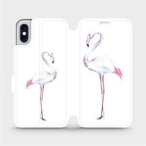 Flipové pouzdro Mobiwear na mobil Apple iPhone XS - M005S Plameňáci