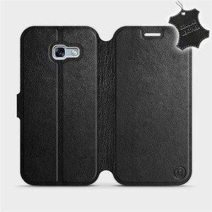 Luxusní flip pouzdro Mobiwear na mobil Samsung Galaxy A5 2017 - Černé - kožené - L_BLS Black Leather - výprodej