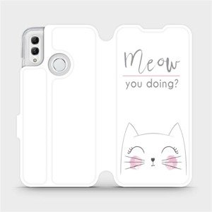 Flipové pouzdro Mobiwear na mobil Honor 10 Lite - M098P Meow you doing?