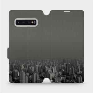 Flipové pouzdro Mobiwear na mobil Samsung Galaxy S10 Plus - V063P Město v šedém hávu