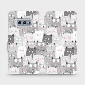 Flipové pouzdro Mobiwear na mobil Samsung Galaxy S10e - M099P Kočičky