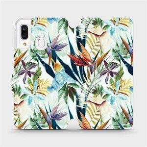 Flipové pouzdro Mobiwear na mobil Samsung Galaxy A40 - M071P Flóra