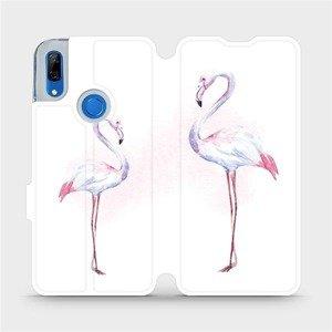 Flipové pouzdro Mobiwear na mobil Huawei P Smart Z - M005S Plameňáci