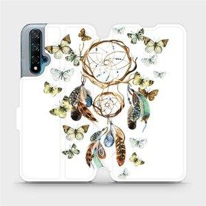 Flipové pouzdro Mobiwear na mobil Huawei Nova 5T - M001P Lapač a motýlci