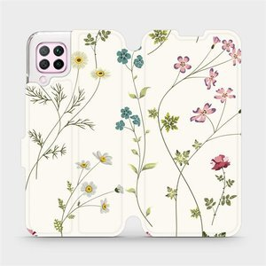 Flipové pouzdro Mobiwear na mobil Huawei P40 Lite - MD03S Tenké rostlinky s květy