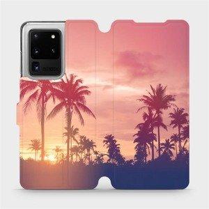 Flipové pouzdro Mobiwear na mobil Samsung Galaxy S20 Ultra - M134P Palmy a růžová obloha