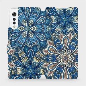 Flipové pouzdro Mobiwear na mobil LG Velvet - V108P Modré mandala květy