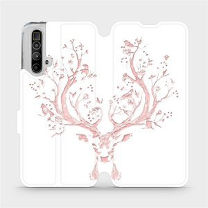 Flipové pouzdro Mobiwear na mobil Realme X3 SuperZoom - M007S Růžový jelínek