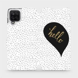 Flipové pouzdro Mobiwear na mobil Samsung Galaxy A12 - M013P Golden hello