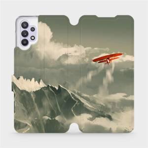 Flipové pouzdro Mobiwear na mobil Samsung Galaxy A32 5G - MA03P Oranžové letadlo v horách