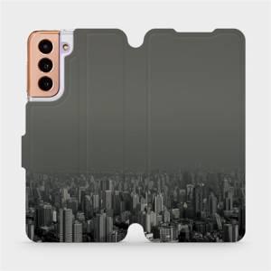 Flipové pouzdro Mobiwear na mobil Samsung Galaxy S21 5G - V063P Město v šedém hávu