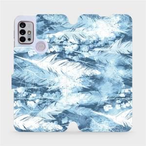 Flipové pouzdro Mobiwear na mobil Motorola Moto G10 - M058S Světle modrá horizontální pírka