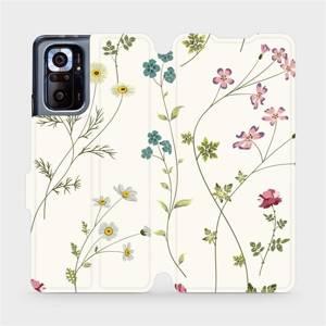 Flipové pouzdro Mobiwear na mobil Xiaomi Redmi Note 10 Pro - MD03S Tenké rostlinky s květy