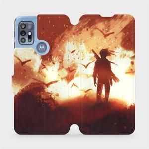 Flipové pouzdro Mobiwear na mobil Motorola Moto G20 - MA06S Postava v ohni