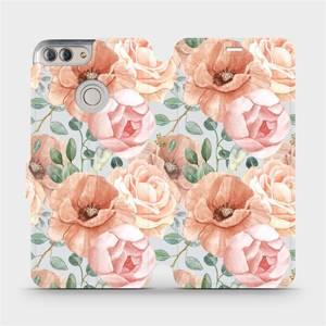 Flip pouzdro Mobiwear na mobil Huawei P Smart - MP02S Pastelové květy