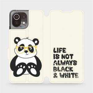 Flip pouzdro Mobiwear na mobil Xiaomi 11 Lite 5G NE - M041S Panda - life is not always black and white