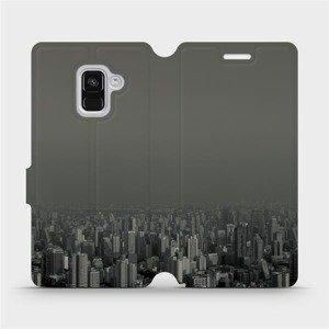 Flipové pouzdro Mobiwear na mobil Samsung Galaxy A8 2018 - V063P Město v šedém hávu