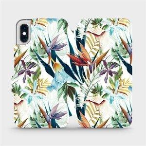 Flipové pouzdro Mobiwear na mobil Apple iPhone XS - M071P Flóra