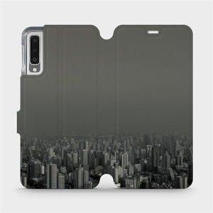Flipové pouzdro Mobiwear na mobil Samsung Galaxy A7 2018 - V063P Město v šedém hávu