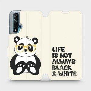 Flipové pouzdro Mobiwear na mobil Huawei Nova 5T - M041S Panda - life is not always black and white