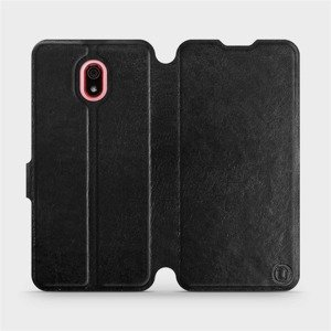 Flipové pouzdro Mobiwear na mobil Xiaomi Redmi 8a v provedení C_BLS Black&Gray s šedým vnitřkem
