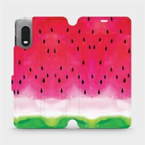 Flipové pouzdro Mobiwear na mobil Samsung Xcover PRO - V086S Melounek