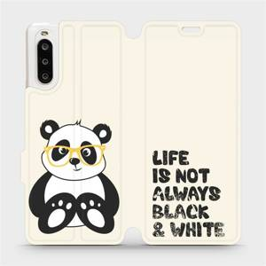 Flipové pouzdro Mobiwear na mobil Sony Xperia 10 II - M041S Panda - life is not always black and white