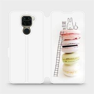 Flipové pouzdro Mobiwear na mobil Xiaomi Redmi Note 9 - M090P Makronky - have a nice day