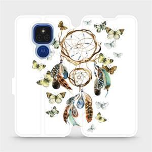 Flipové pouzdro Mobiwear na mobil Motorola Moto E7 Plus - M001P Lapač a motýlci