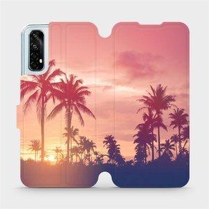 Flipové pouzdro Mobiwear na mobil Realme 7 - M134P Palmy a růžová obloha