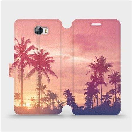 Flipové pouzdro Mobiwear na mobil Huawei Y5 II - M134P Palmy a růžová obloha