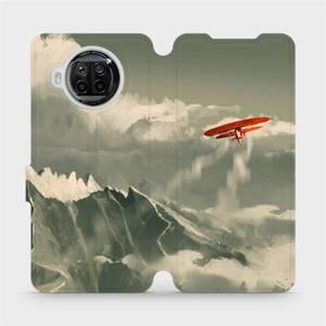 Flipové pouzdro Mobiwear na mobil Xiaomi MI 10T Lite - MA03P Oranžové letadlo v horách